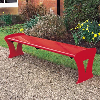 Metro bench in red - 1