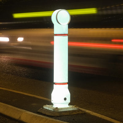 Illuminated Mini-Ensign™ Bollard
