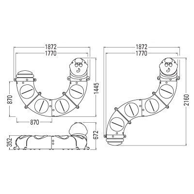 Munch the caterpillar seat - standard layouts