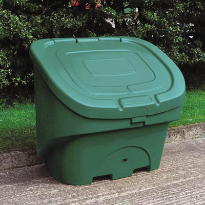 Nestor 400 grit salt storage bin in green