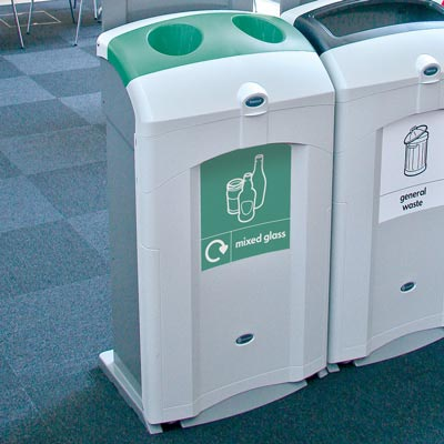 Nexus® 100 Mixed Glass Recycling Bin