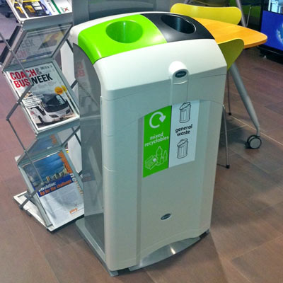 Nexus® 100 Duo General Waste / Mixed Recyclables Bin