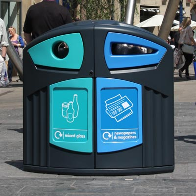 Nexus® 200 Mixed Glass / Newspaper & Magazine Recycling Bin