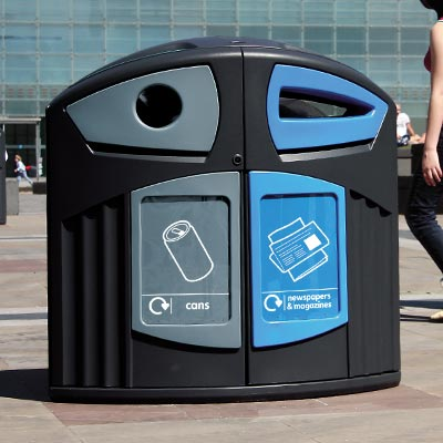 Nexus® 200 Can / Newspaper & Magazine Recycling Bin