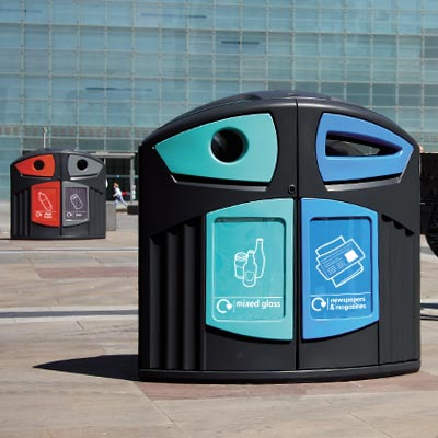 Nexus 200 Street Recycling Bins