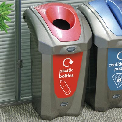 Nexus® 30 Deluxe Plastic Bottle Recycling Bin