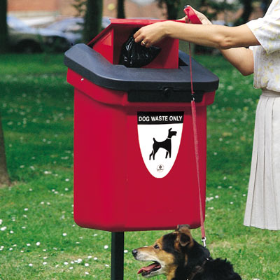 Retriever 60 dog waste bin in Red