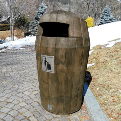 Sherwood litter bin with Hood - Dark Oak