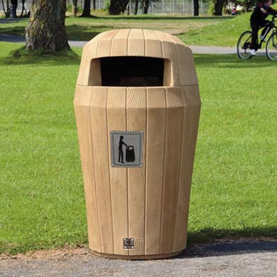 Sherwood litter bin with Hood - Light Oak