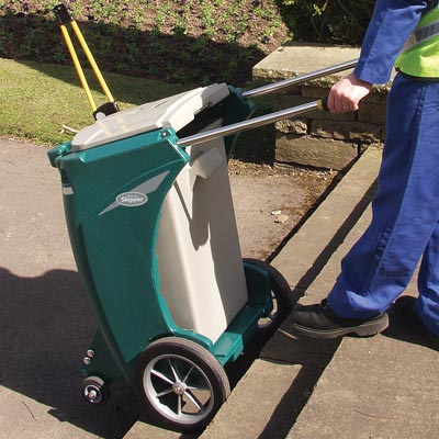 Skipper multi-purpose cleaning trolley with Rigid Liner in Deep Green