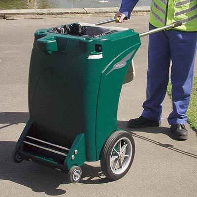 Skipper multi-purpose cleaning trolley in Deep Green