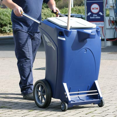 Skipper multi-purpose cleaning trolley in Dark Blue