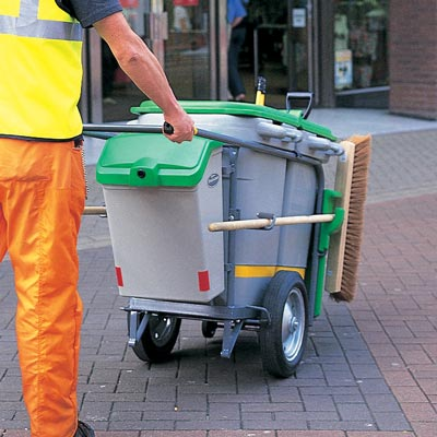 Double Space-Liner litter collection orderly barrow