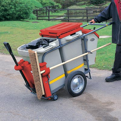 Double Space-Liner litter collection orderly barrow in Red