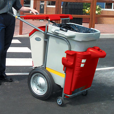 Single Space-Liner litter collection orderly barrow in Red