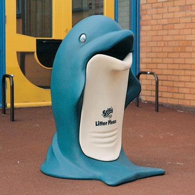 Splash childrens' novelty litter bin