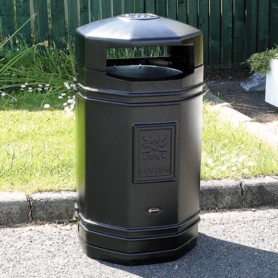 Stanford litter bin in Black
