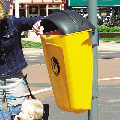 Super Trimline 50 HSL litter bin in Yellow