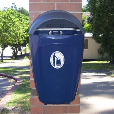 Super Trimline 50 HSL litter bin in Dark Blue