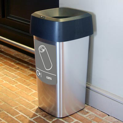 Vista™ Square Can Recycling Bin