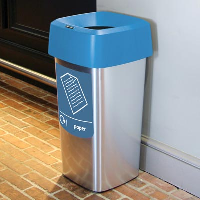 Vista™ Square Paper Recycling Bin
