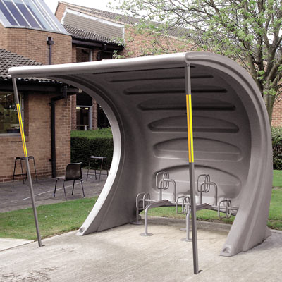 BikeZone™ Cycle Shelter with Hoops