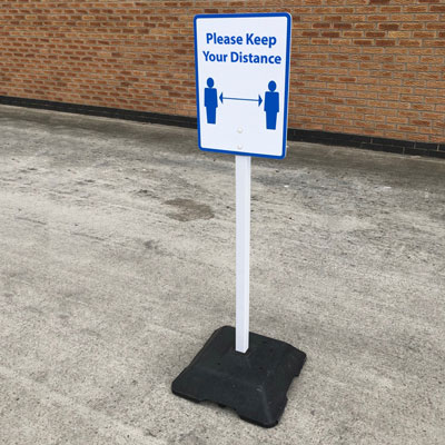 Advisor™ Free Standing Sign Post Portable Post for Fixed Sign