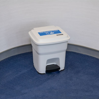 BigFoot™ 35 PPE Disposal Bin Hands-Free Bin with Foot-Operated Pedal