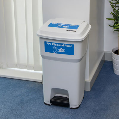 BigFoot™ 60 PPE Pedal Bin Foot-Operated PPE Bin for Hands-Free Use