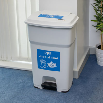 BigFoot™ 85 PPE Waste Bin Large Capacity Hands-Free Pedal Bin