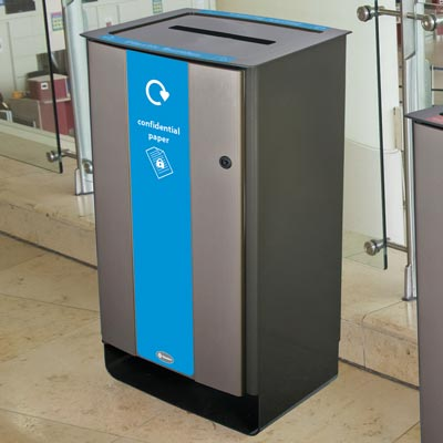Electra™ 85 Confidential Paper Recycling Bin