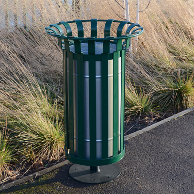 Everglade (60ltr) litter bin with optional pedestal base