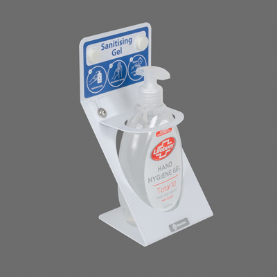 Locking Hand Sanitiser Wall Bracket Secure Sanitiser Holder for 500ml Hand Gel Dispensers