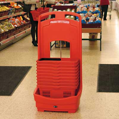 Mobile Basket Buddy - storage unit for baskets in Red