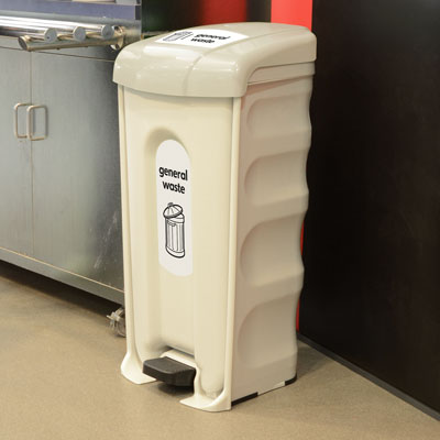 Nexus<sup>®</sup> Shuttle General Waste Pedal Bin Available with Sack or Wheeled Liner