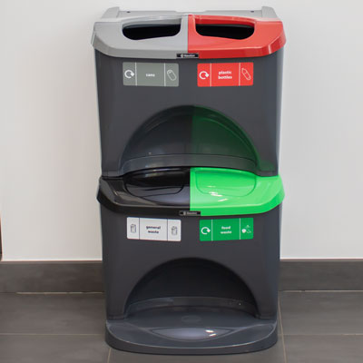 Nexus® Stack 60 Recycling Bins 604S 60 Litres - 4 Waste Streams