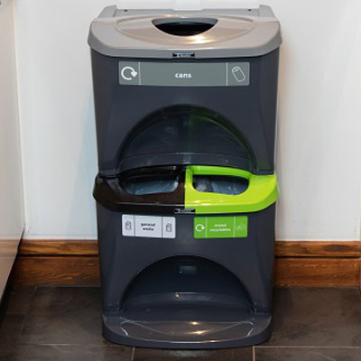 Nexus® Stack 60 Recycling Bins 603S 60 Litres - 3 Waste Streams