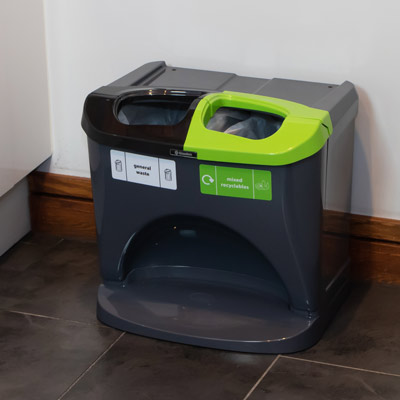 Nexus® Stack Duo Recycling Bin 302S Collect 2 Waste Streams in One