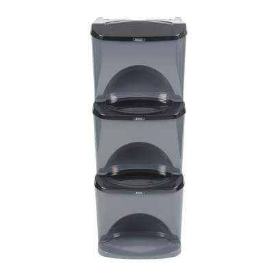 Nexus® Stack Home 90 Recycling Bins Triple & Multi Compartment - 90 Litres - Up to 6 Waste Streams