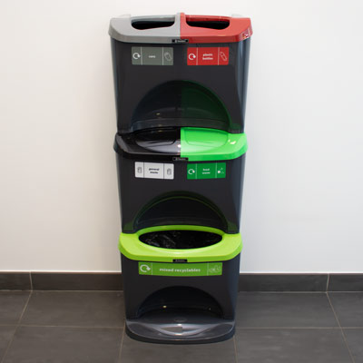 Nexus® Stack 90 Recycling Bins 905S 90 Litres - 5 Waste Streams