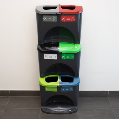 Nexus® Stack 90 Recycling Bins 906S 90 Litres - 6 Waste Streams
