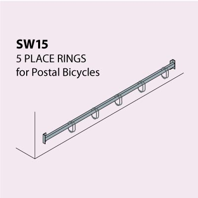 Bi-Stander™ Wall Mounted Cycle Stand - Model SW15