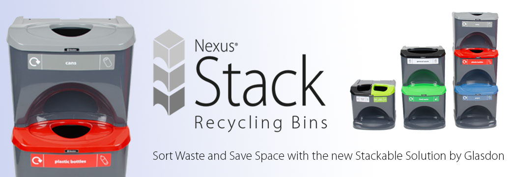 Nexus Stack Recycling Bins - stackable 30 litre recycling bins